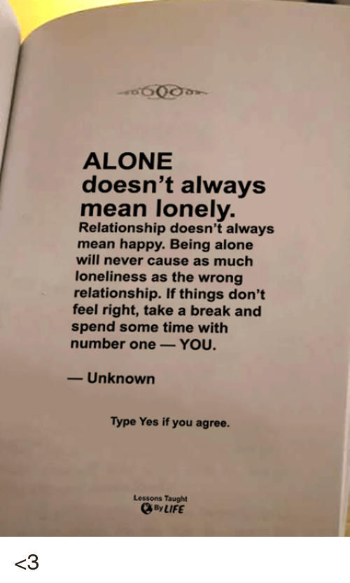 being alone after a relationship