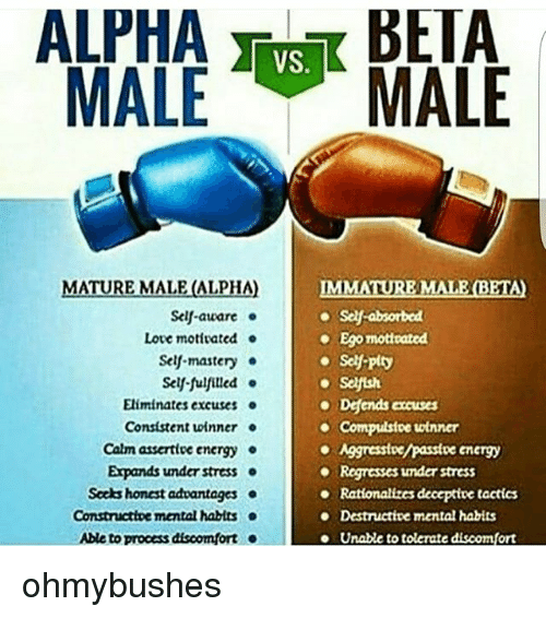 Alpha and beta males