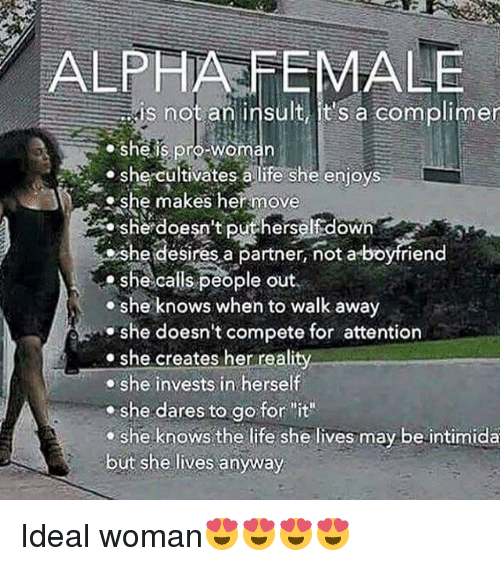 ALPHA FEMALE Is Not an Insult It's a Complimer Sheis Pro