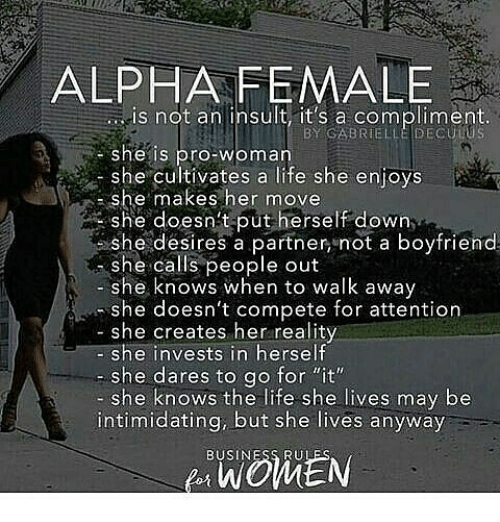 3c9e5628 Memes, Intimidation, and 🤖: ALPHA FEMALE is not an insult, it's GABRIELLE
