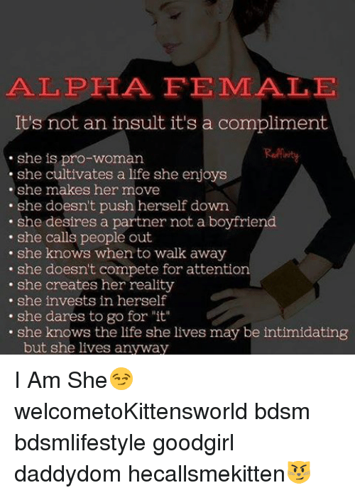 74d65411 Memes, She Knows, and Boyfriend: ALPHA FEMALE It's not an insult it's a