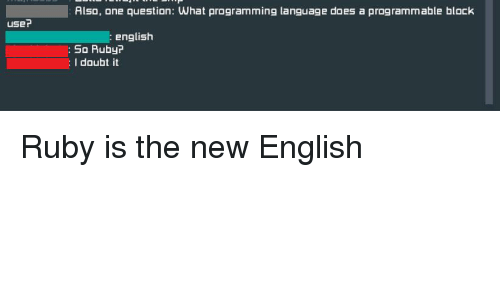 Also One Question What Programming Language Does a Programmable