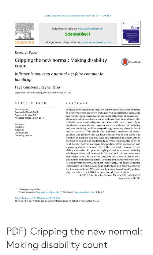 ALTER European Journal of Disability Research 11 2017 179