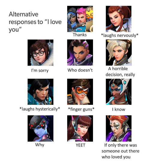 Alternative Responses To I Love You Thankslaughs Nervousty A