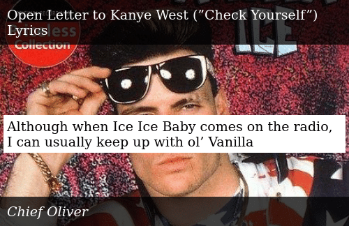 Although When Ice Ice Baby Comes on the Radio I Can Usually