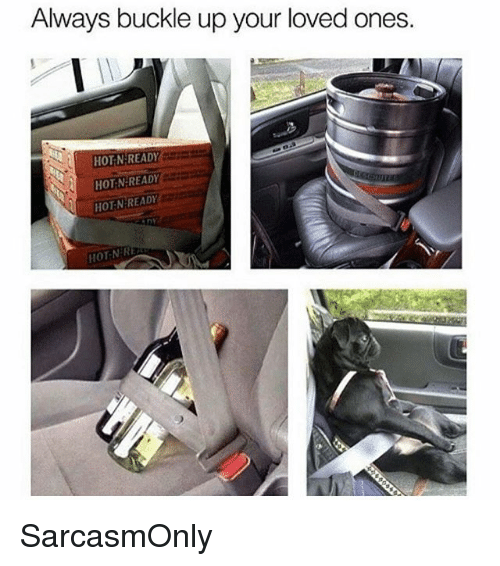Funny, Memes, and Buckle: Always buckle up your loved ones  HOT-N:READY  HOT N READY  HOT NEREADY  HOT-NR SarcasmOnly