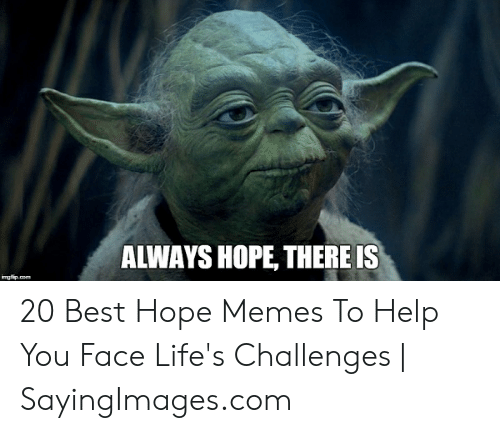 Memes, Best, and Help: ALWAYS HOPE, THERE IS 20 Best Hope Memes To Help You Face Life's Challenges | SayingImages.com