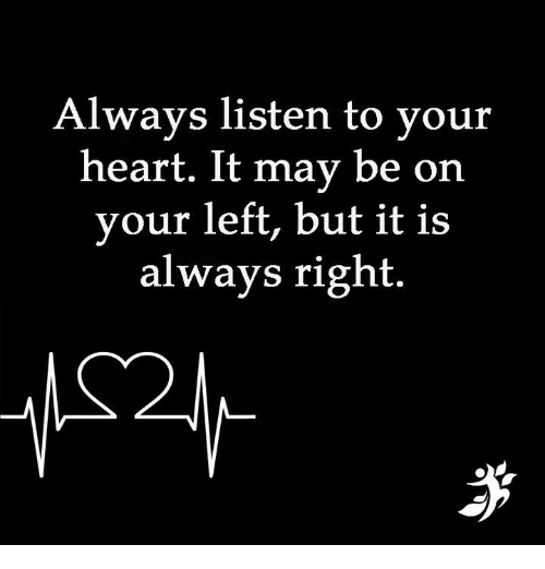 Exceptionnel Listen To Your Heart