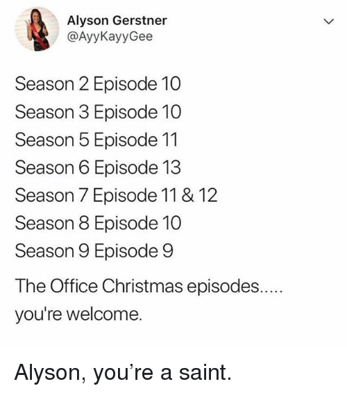 christmas memes and the office alyson gerstner ayykayygee season 2 episode 10 - Christmas Episodes Of The Office