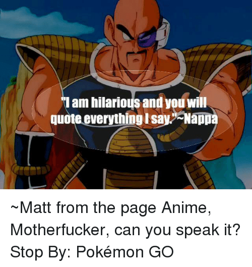 Am Hilarious And You Will Quote Everythinglsay Nappa Matt From The