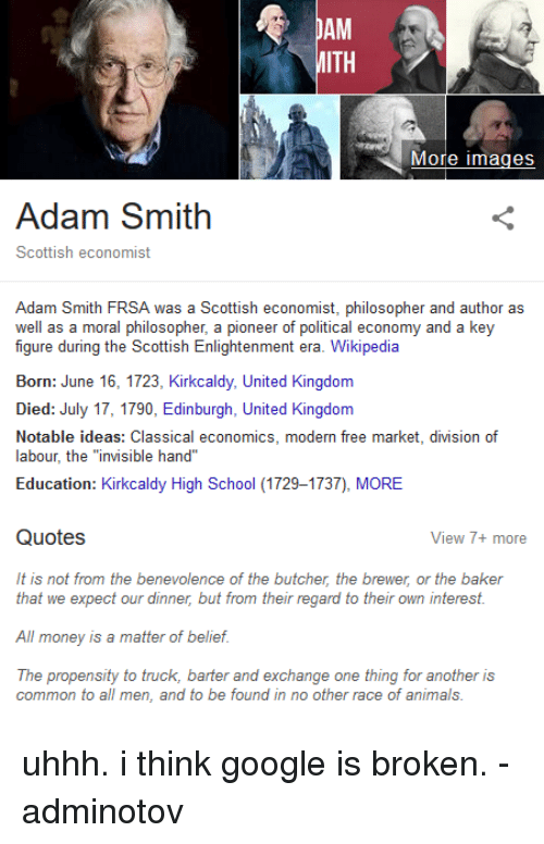 how did adam smith die