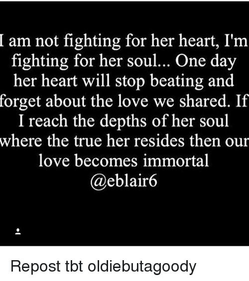 Am Not Fighting for Her Heart ...