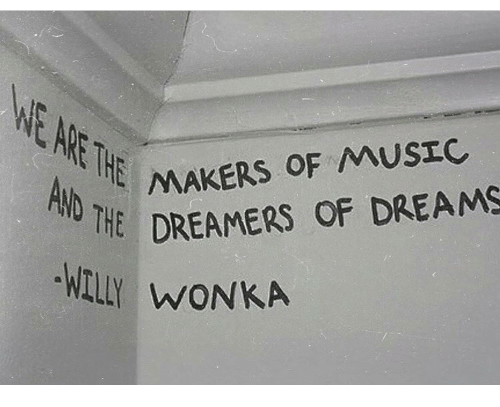 Dreams, Wonka, and Dreamers: AMAKERS OF MUSEC  HE DREAMERS OF DREAMS  Y WONKA