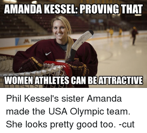 AMANDA KESSEL PROVING THAT WOMEN ATHLETES CAN BEATTRACTIVE Phil ...