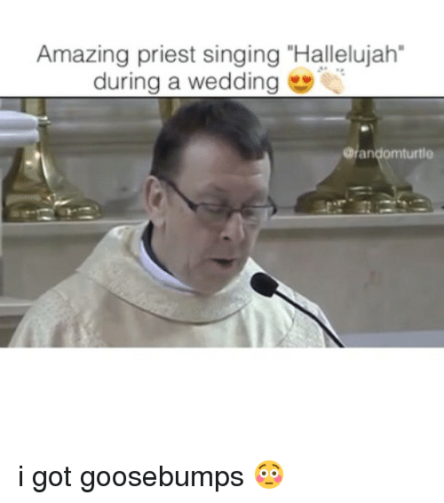 Hallelujah Memes And Singing Amazing Priest During A Wedding Randomturtle