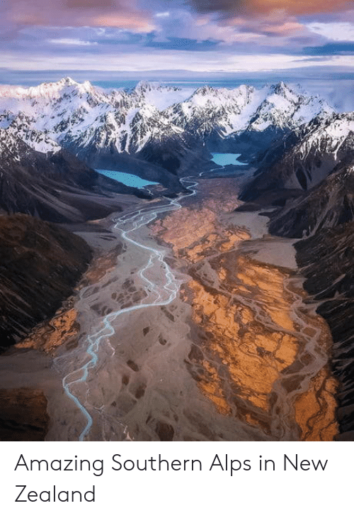 New Zealand, Amazing, and Alps: Amazing Southern Alps in New Zealand