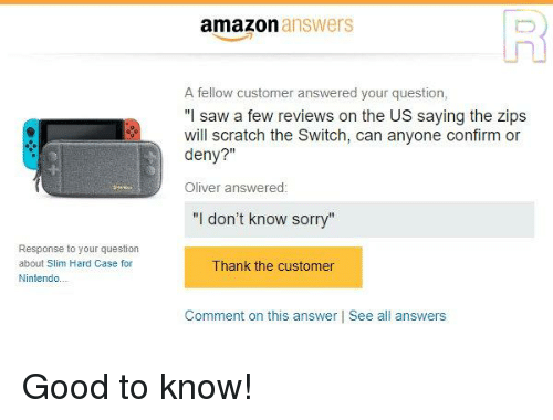 Amazon Answers a Fellow Customer Answered Your Question I