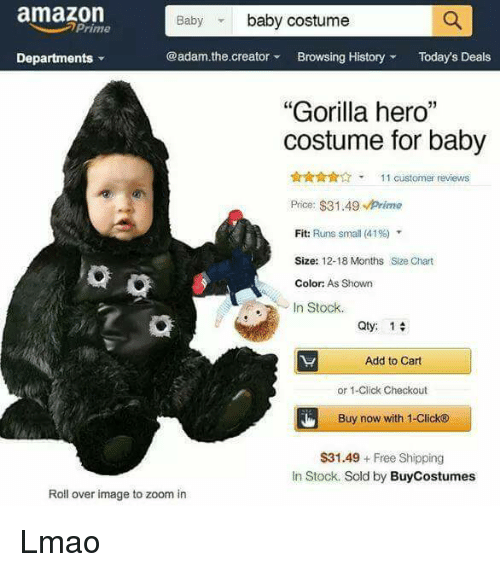 Amazon Baby Itu0027s Cold Outside and Click amazon Baby baby costume prime  sc 1 st  Me.me & Amazon Baby Baby Costume Prime the Creator Browsing History Todayu0027s ...