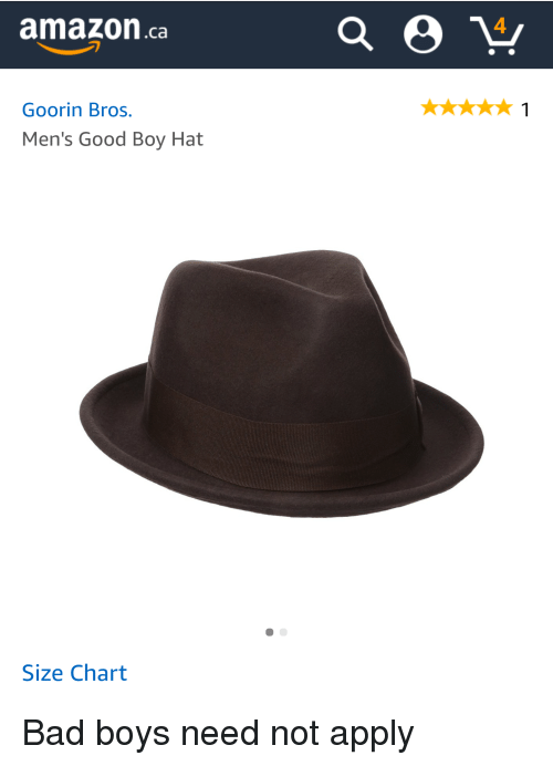 Amazonca 4 Goorin Bros Men's Good Boy Hat Size Chart Bad