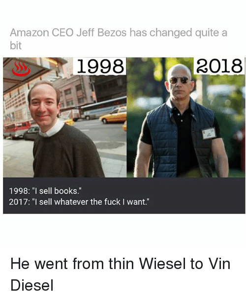 amazon ceo jeff bezos has changed quite a bit 1998 30704430 ✅ 25 best memes about jeff bezos jeff bezos memes