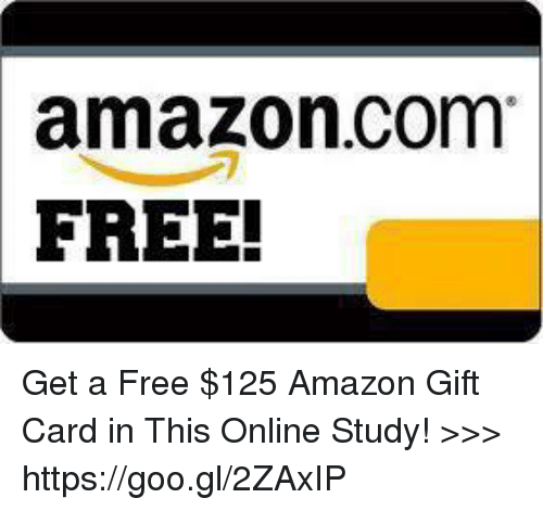 Amazoncom FREE! Get a Free $125 Amazon Gift Card in This Online