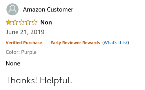Amazon Customer Non June 21 2019 Early Reviewer Rewards What's This