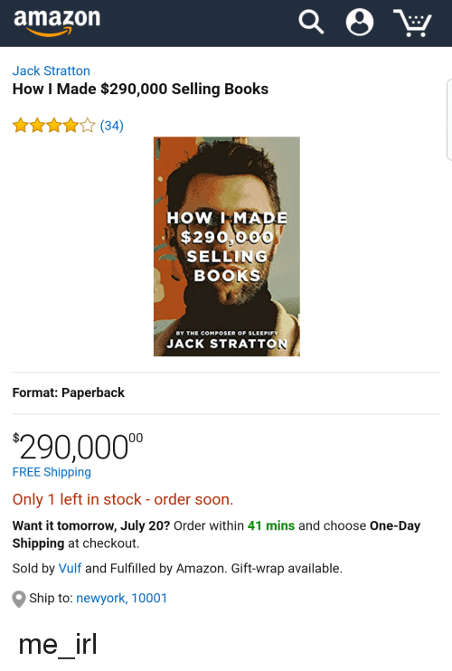 Jack Stratton - How i made $290,000 selling books
