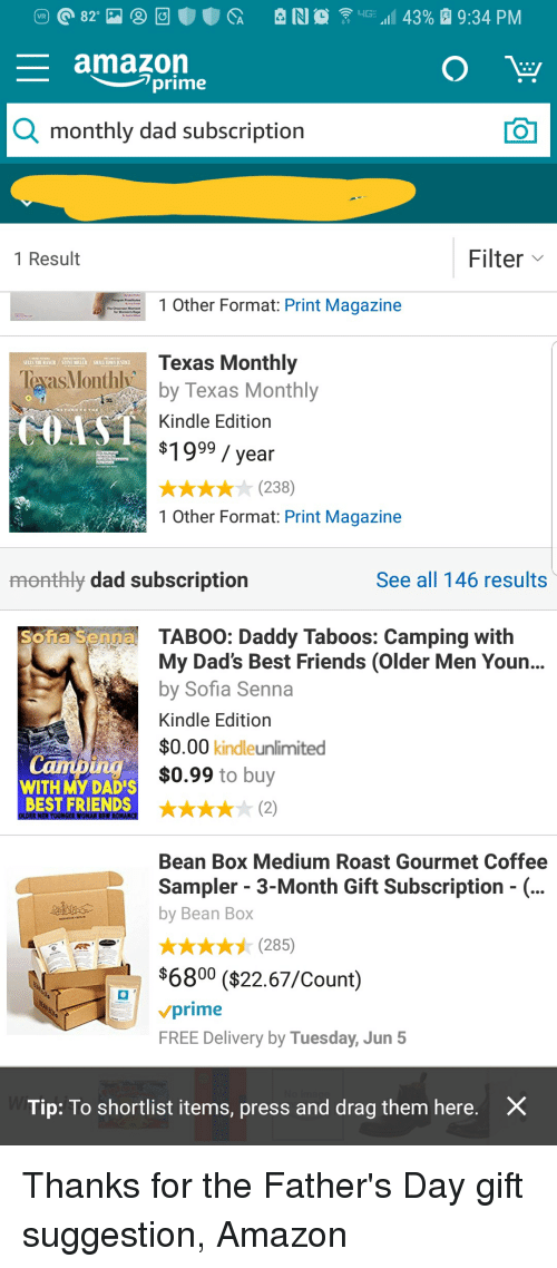 Amazon Prime Monthly Dad Subscription 1 Result Filter Other Format