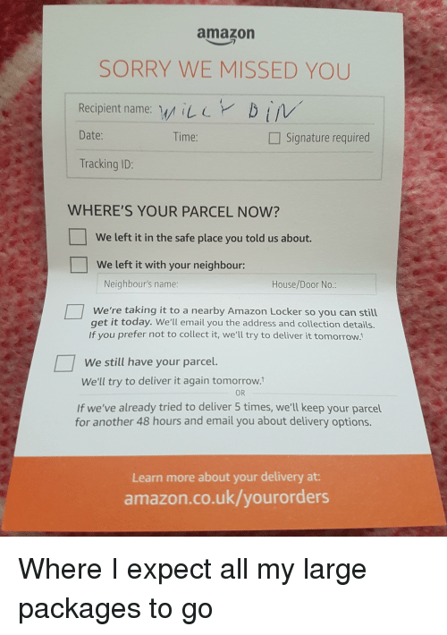 Amazon Funny And Sorry SORRY WE MISSED YOU Recipient Name ILDiv