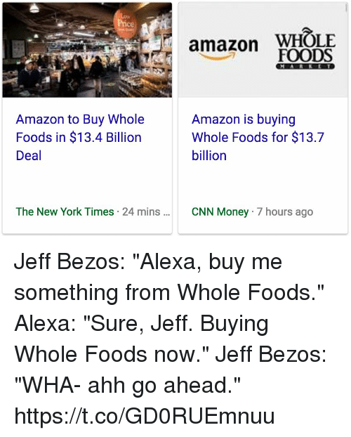 Alexa Buy Whole Foods