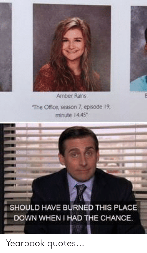 amber rains the office season episode minute should