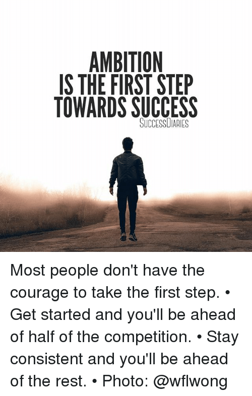 First Step To Success: 25+ Best Memes About Ambition