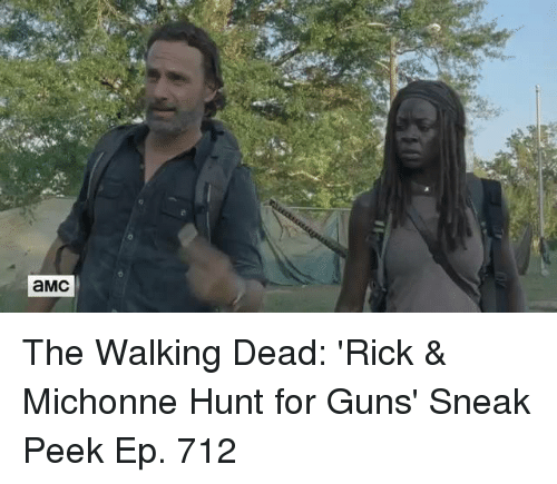 Memes, Hunting, and 🤖: aMC The Walking Dead: 'Rick & Michonne Hunt for Guns' Sneak Peek Ep. 712