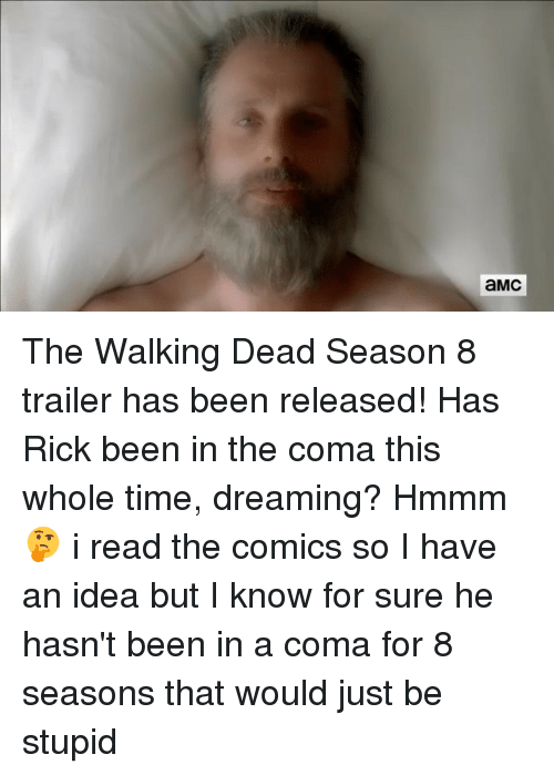 amc the walking dead season 8 trailer has been released has rick been in the coma this whole. Black Bedroom Furniture Sets. Home Design Ideas