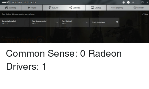 AMDD RADEON SETTINGS Gaming Video Q ReLive Oo Connect Display