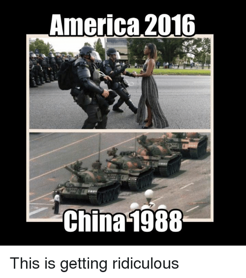 America, China, and Dank Memes: America 2016  China 1988 This is getting ridiculous