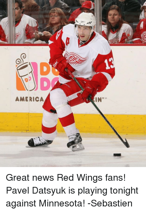 America in great news red wings fans pavel datsyuk is playing next voltagebd Image collections