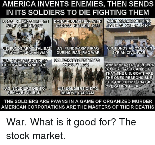 stock market interdependence during iraq war What to do if north korea has you worried  during a rally in  be a march to war in order to sink the stock market's buoyant .