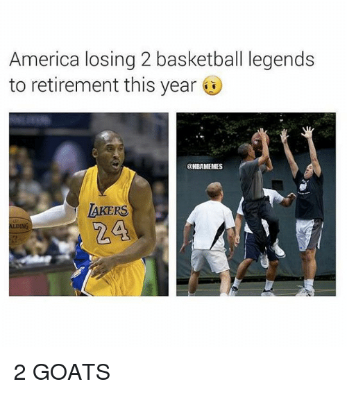 pretty nice 8bc09 c554b America, Basketball, and Nba  America losing 2 basketball legends to  retirement this year
