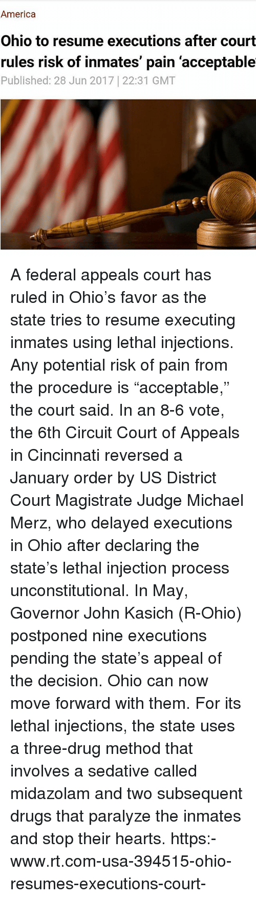 america drugs and memes america ohio to resume executions after court rules risk - Resume Rules