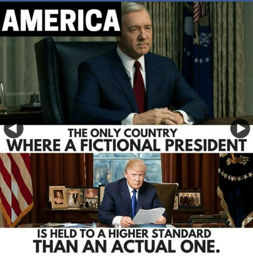 america the only country where a fictional president is held 28776235 america the only country where a fictional president is held to a