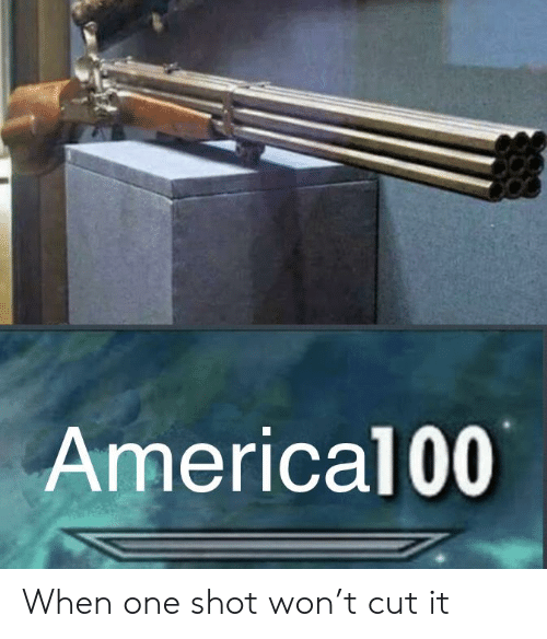Reddit, One, and One Shot: Americal00 When one shot won't cut it