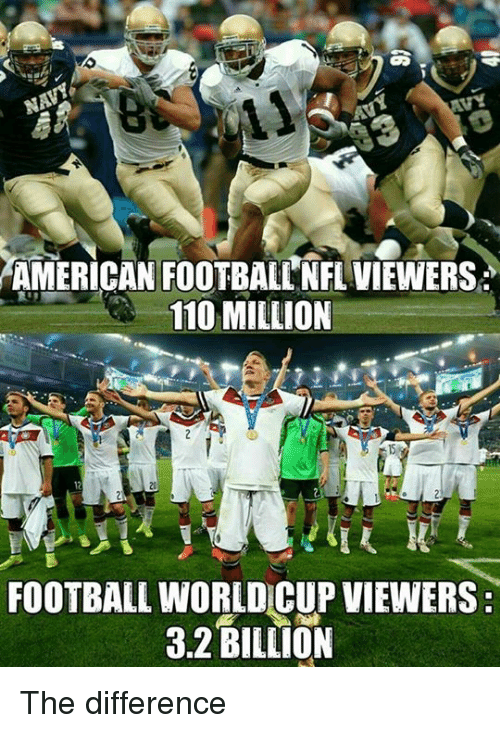 Memes And American Football American Football Nflviewers 110 Million Football World