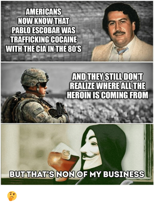 Americans Nowknow That Pablo Escobar Was Trafficking Cocaine