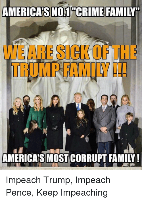 americas no1hcrime family noocrime we are sick of the trump 24732607 ✅ 25 best memes about trump impeachment trump impeachment memes,Trump Family Meme