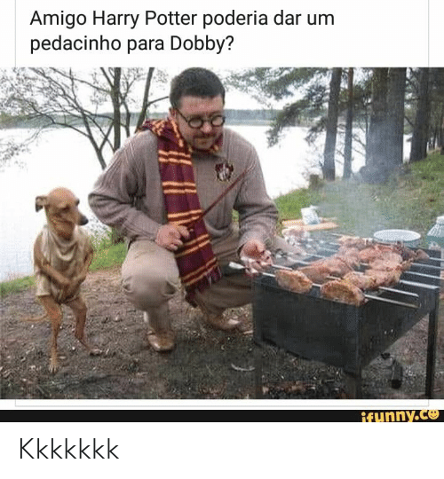 Harry Potter, Potter, and Harry: Amigo Harry Potter poderia dar um  pedacinho para Dobby?  ifunny.co Kkkkkkk