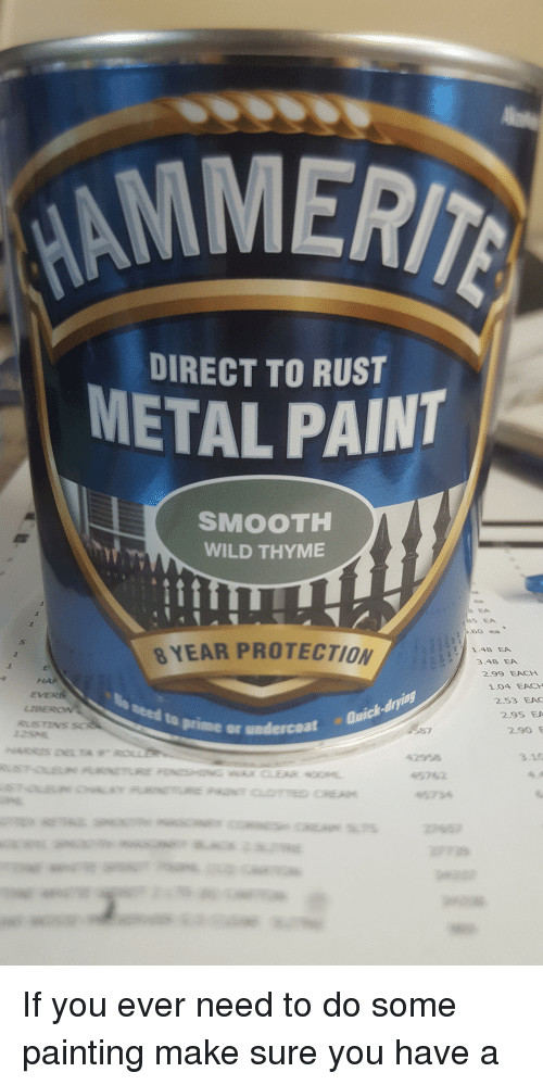 AMMERI DIRECT TO RUST METAL PAINT SMOOTH WILD THYME 85 EA 60
