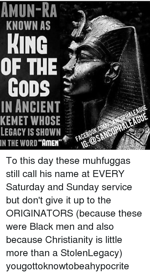 AMUN-RA KNOWN AS KING OF THE GODS IN ANCIENT KEMET WHOSE
