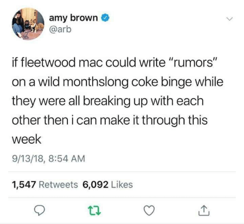 Amy Brown if Fleetwood Mac Could Write Rumors on a Wild