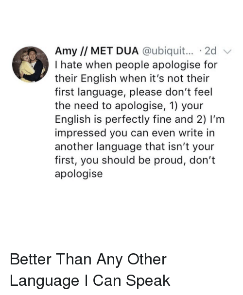 Amy MET DUA 2d v I Hate When People Apologise for Their